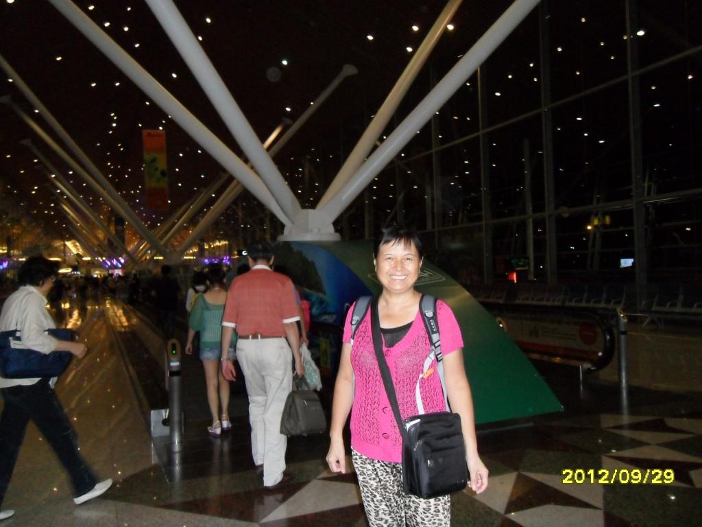 老妈在吉隆坡机场