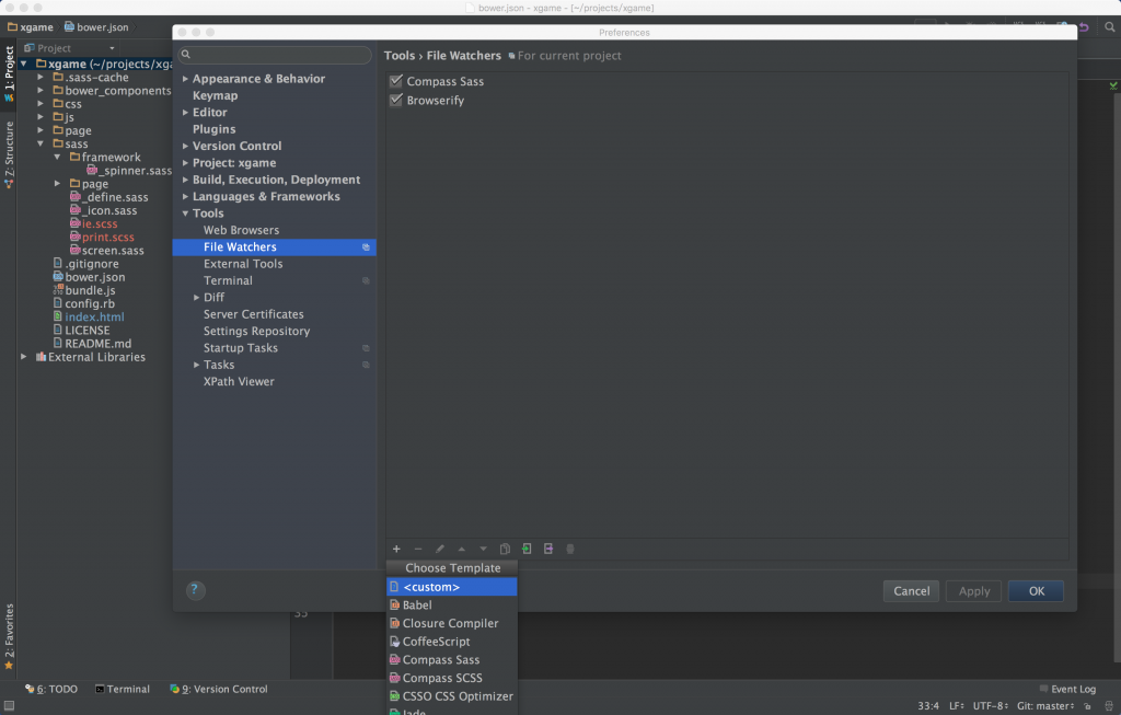WebStorm Preferences