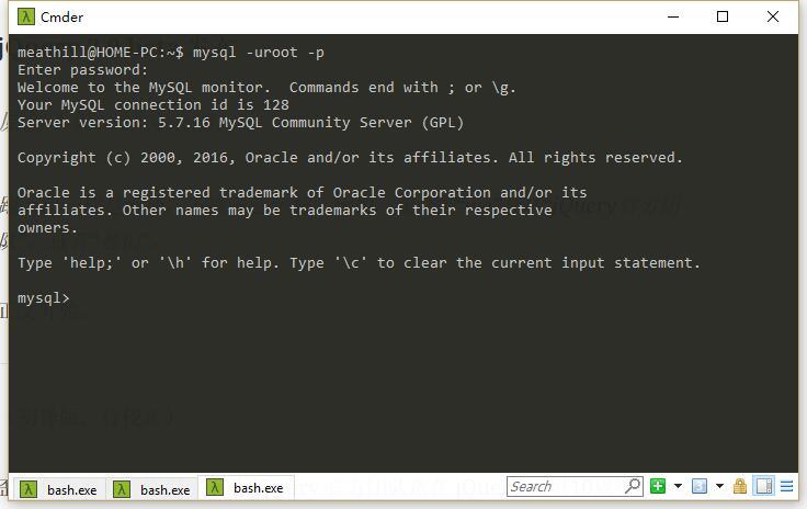 进入 MySQL 控制台